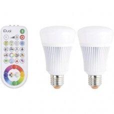 Lempa LED 11W, 2xE27, 2200-6500K, RGB+pultelis