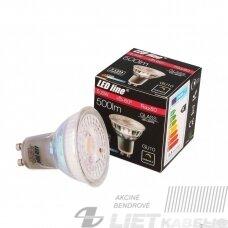 Lempa LED 5.5W, GU10, 500lm, 2700K, dimeriuojama, LEDline