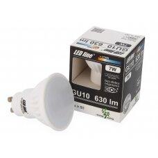 Lempa LED 7W, GU10, 630lm, 2700K, keramikinė, LEDline