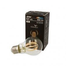 Lempa LED 8W, E27, 968lm, 2700K, dimeriuojama, Filament/LEDline