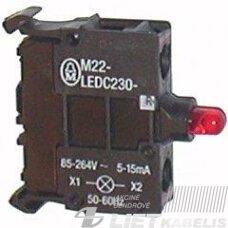 Lemputė M22-LEDC230-R (85-264V raudona)