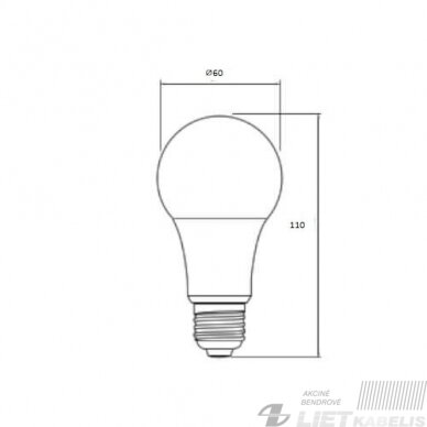 Lempa LED 10W, E27, 3000K, 840Lm, GTV 2