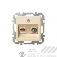 Lizdas kompiuteriui +TV be rėmelio, baltas, TVL/KLRJ45-16e2-02 QR1000