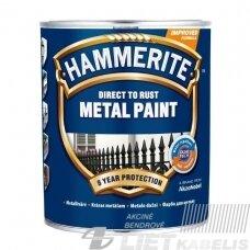 Metalo dažai Hammerite Smooth, juodi, 0.75 l