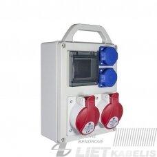 Modulinis skydelis R-BOX 240R-4S 2x16A,2x230V s/r Pawbol
