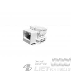 """Modulis kompiuteriui RJ45 CAT6 lizdas, baltas """"Keystone tipas"""" (komponentas montuoti apdailoje)"""