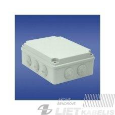 Paviršinė hermetinė dėžutė PH-3A.3 198x148x76 IP65, Elektroplast