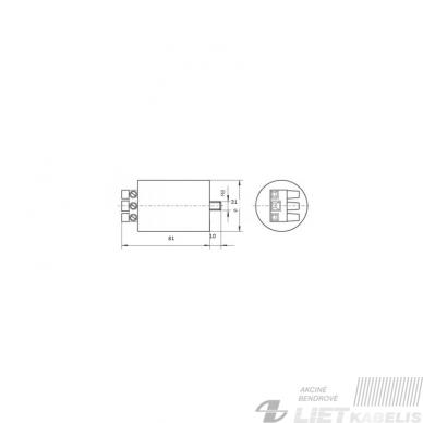 Paleidėjas ZHS 400M 70-400W, 5kW (Ignitorius), POLAMP 2