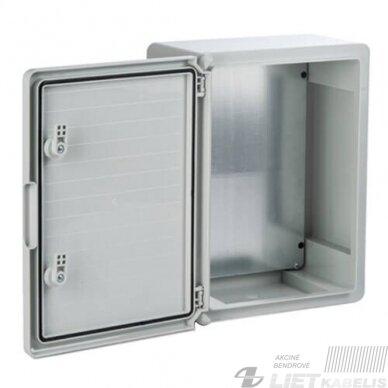 Paskirstymo skydelis plastikinis 500x700x250mm, IP65, ABS PANO 2