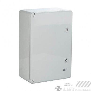Paskirstymo skydelis plastikinis 500x700x250mm, IP65, ABS PANO