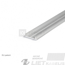 Profilis aliuminis  LED juostoms FIX12 18mm