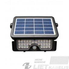 Prožektorius, LED 5W 4K 500lm saulės baterija ir judesio davikliu, LEDline