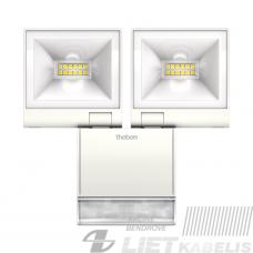 Prožektorius LED theLEDa S20 WH  20W, 4000K,1680lm, IP55, baltas su judesio jutikliu , THEBEN