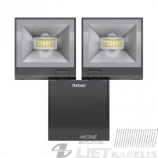 Prožektorius LED theLEDA S20 BK  20W, 4000K,1680LM, IP55, juodas su judesio davikliu , THEBEN
