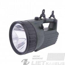 LED žibintas įkraunamas 10W, 380Lm, IP43 Emos