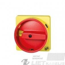 Rankena 67x67 geltona -raudona  (jungikliui 0-1) GG