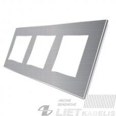 Rėmelis 3 vietų aliuminis pilkas, SPRING