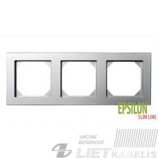 Rėmelis 3 vietų K14-145-03 metalo sp., SlimLine EPSILON