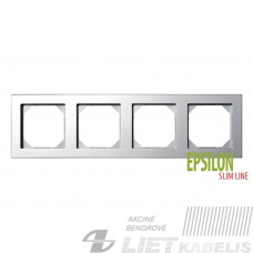 Rėmelis 4 vietų, K14-145-04 metalo sp., Epsilon, SlimLine