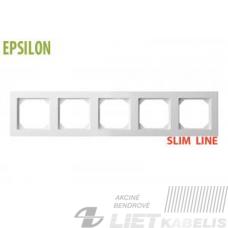 Rėmelis 5 vietų, K14-145-05 baltas, Epsilon SlimLine