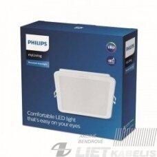 Šviestuvas LED13W įleidžiamas, kvadratinis, 3000K 1200lm IP20, PHILIPS
