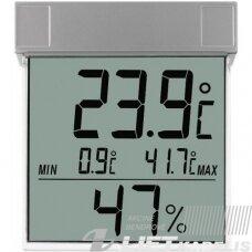 Termometras-higrometras lauko temperatūrai, ant lango, TFA