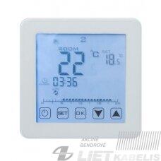 Termostatas HT-125 sensorinis-programuojamas su davikliu baltas, HEBER