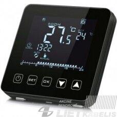 Termostatas HT-125B sensorinis-programuojamas, juodas, HEBER