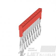 Trumpiklis gnybtams 10 kontaktų ZQV 2.5N/10 raudonas, Weidmuller