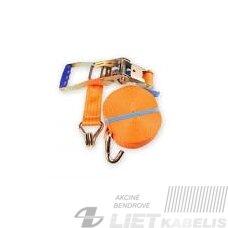 Tvirtinimo diržas, 4t. 50 mm 0.5/2.5m (oranžinis)