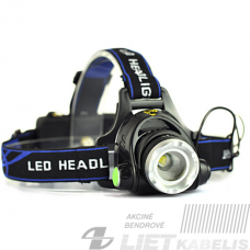 Žibintas ant galvos Q5 LED 5W 2X18650 ,kroviklis AC110-230V