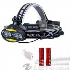 Žibintas ant galvos su judesio jutikliu LED XQ15/4T6