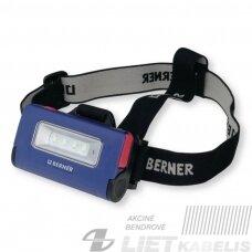 Žibintuvėlis ant kaktos LED 2in1, Berner