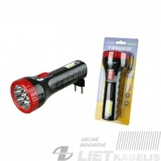 Žibintuvėlis LED 7+COB TS1139 įkraunamas, rankinis, TIROSS